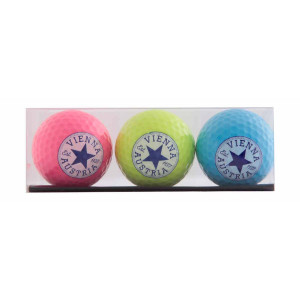 Golfball Set one Star Vienna bunt